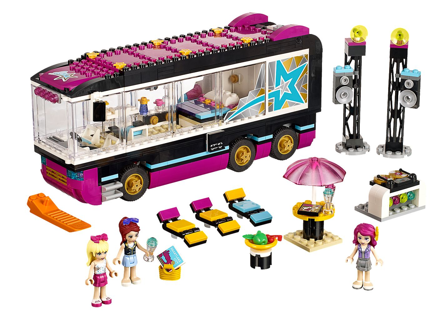 Pop Star Tour Bus 41106 Friends Lego Shop