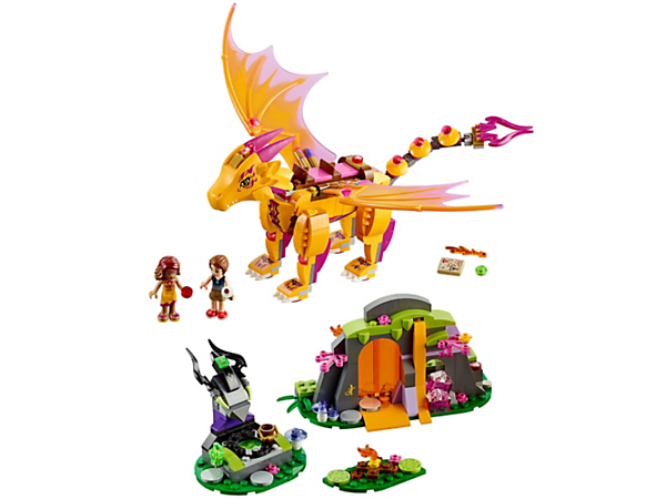 Join Emily Jones and Azari Firedancer at the Lava Cave with Zonya the fire dragon for cozy times around the campfire, with 2 mini-doll figures and accessories.