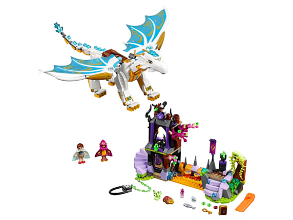 Help Emily Jones and Azari rescue Elandra the Queen dragon from the Elf Witch's castle tower! With 2 mini-doll figures, plus Elandra, Dusti and a mouse.