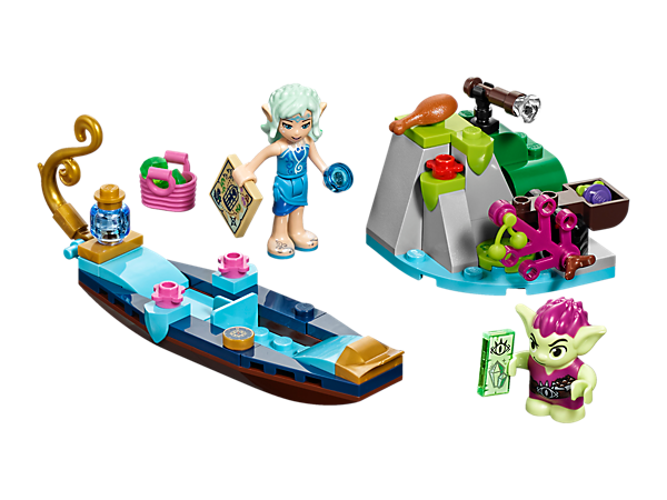 <p>Ride with Naida as she searches for crystals in her gondola packed with accessories, plus an island scene with Roblin the Goblin figure, a spyglass and a catapult.</p>