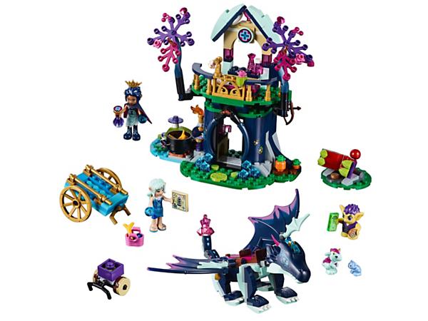 Bewache den Wald und hilf Naida mit Rosalyn und ihrem Drachen Sapphire. Zum Set gehören ein Baum mit Alchemieraum und Behandlungsstation sowie ein Drachenbaby, ein Bärenjunges und ein Kobold als weitere Figuren.