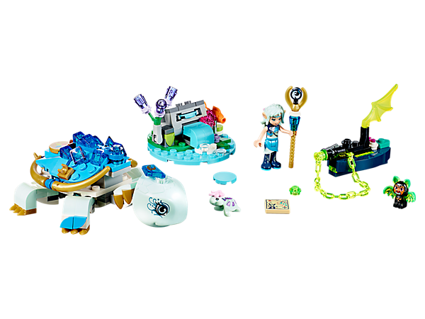 Join Naida and the Guardian Water Turtle as they battle the evil shadow bat! Set features a small island with disc shooter, boat with chain shooter and chain, plus bat and small turtle figures.