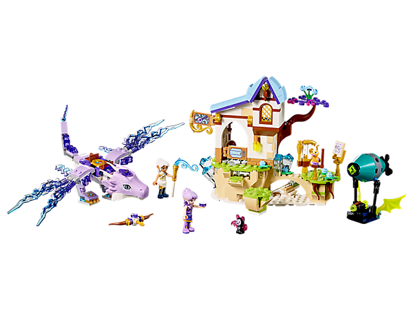 Defend the Guardian Wind Dragon from the shadow bat! Set features a 3-level music school, airship with shooter, 2 mini-doll figures, plus bird and bat figures.