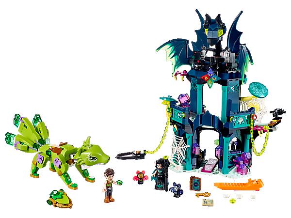 Hol die Diamanten der Elemente zurück, um die Harmonie in Elvendale wiederherzustellen! Das Set enthält einen 2-geschossigen Turm, die Erdfüchsin (Wächterin der Erde) als baubare Figur, 2 Spielfiguren sowie eine Spinnenfigur und 2 Fledermausfiguren.