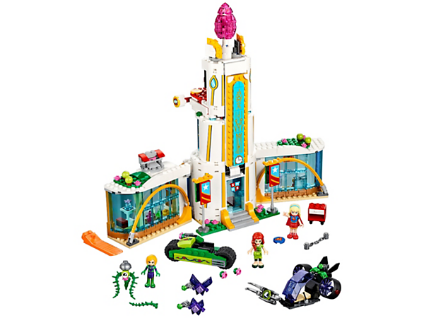 <p>Help Supergirl™ and Poison Ivy™ defend Super Hero High School from Lena Luthor™, featuring three mini-doll figures, school and two hypnotized purple Kryptomites.</p>