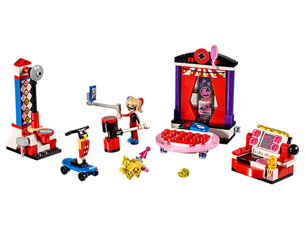 <p>Help Harley Quinn™ stop the Kryptomite™ from drawing graffiti all over her dorm room, featuring a transforming bed and sofa, Strong Man game and buildable vehicle.</p>