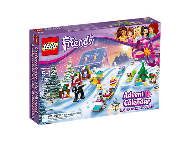 Build surprises every day in December with the LEGO® Friends Advent Calendar with 24 buildable gifts in individual compartments.