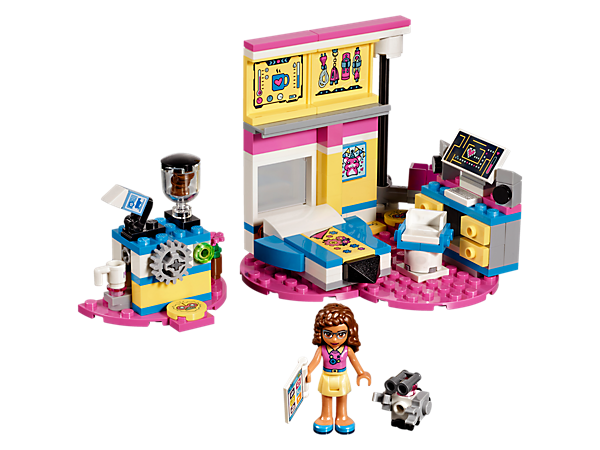 <p>Help Olivia and her robot Zobito get to work on all kinds of cool inventions in her bedroom with a functioning coffee machine plus elevator and track system.</p>