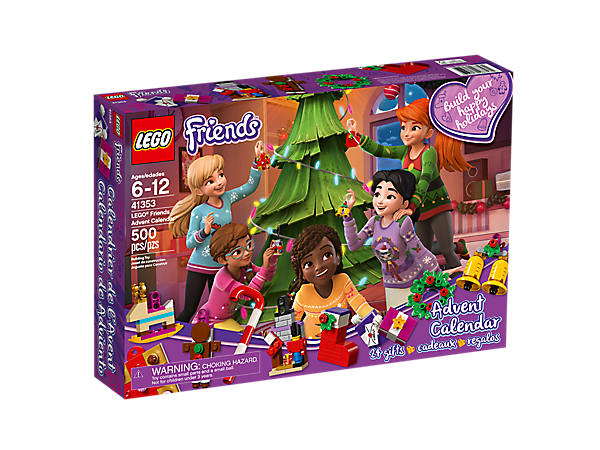 Build surprises every day in December with the LEGO® Friends Advent Calendar, featuring 24 buildable gifts in individual compartments.