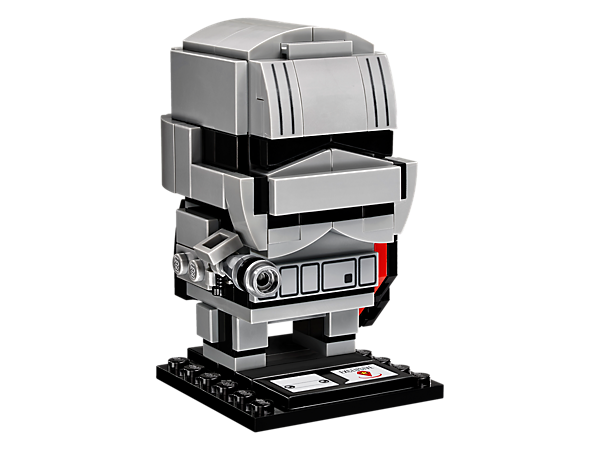 Build Captain Phasma™, as seen in the Star Wars: The Force Awakens movie, with this fun LEGO® BrickHeadz construction character with Stormtrooper armor and blaster, plus a baseplate.