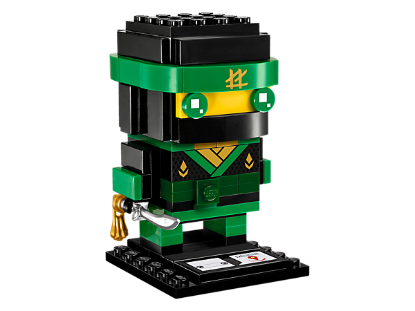 Build Lloyd, as seen in the blockbuster THE LEGO® NINJAGO® MOVIE™, with this fun LEGO BrickHeadz construction character with ninja outfit and katana, plus a baseplate.