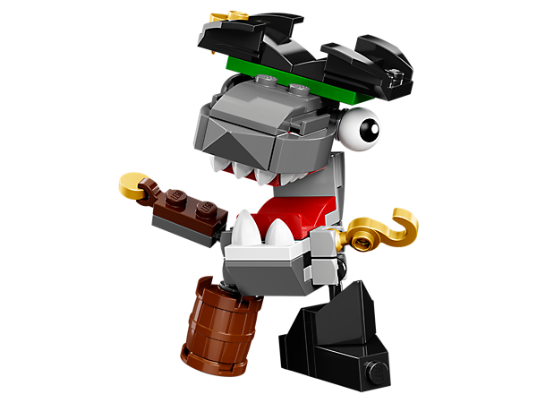 <p>Take to the stage with Sharx, with a buildable pirate hat, hook hand and barrel leg for hiding treasure, 1 of 3 Pyrratz featured in LEGO® MIXELS™ Series 8.</p>