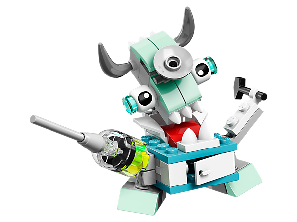 Always be ready to operate with the opening cabinet body design, syringe arm and reflex hammer of Surgeo, 1 of 3 Medix featured in LEGO® MIXELS™ Series 8.