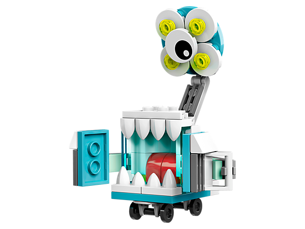 Meet multitasking Skrubz, featuring operating light-style elements, defibrillator-style arms, 4 wheels and posable joints, 1 of 3 Medix featured in LEGO® MIXELS™ Series 8.