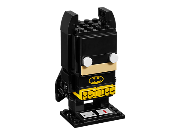 Build Batman™ in this new-for-March-2017 LEGO® BrickHeadz construction character, with glow-in-the-dark eyes, utility belt, Batarang and a display baseplate.