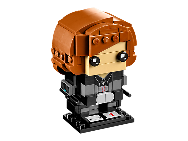 Build Black Widow in the new-for-March-2017 LEGO® BrickHeadz construction character, with iconic costume, buildable iconic hair and two detachable batons, plus a display baseplate.