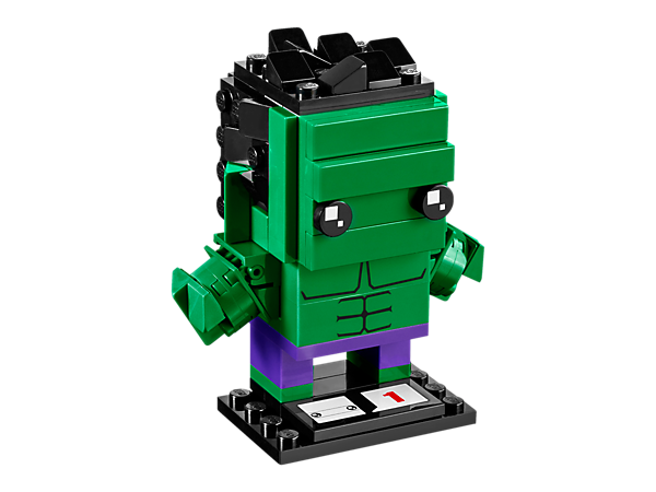<p>Build The Hulk in the new-for-March-2017 LEGO® BrickHeadz set, with buildable fists and hair, plus decorated muscles and a buildable baseplate.</p>