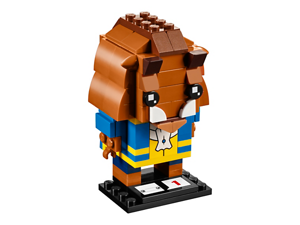 Build Disney's Beast with this new-for-March-2017 LEGO® BrickHeadz construction character, featuring a decorated waistcoat, buildable mane and horns, and a display baseplate.