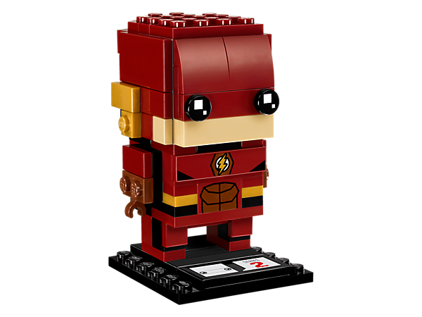 Build The Flash™, as seen in the blockbuster Justice League movie, with this fun LEGO® BrickHeadz construction character with iconic outfit, buildable ear wings, lightning logo plus a baseplate.