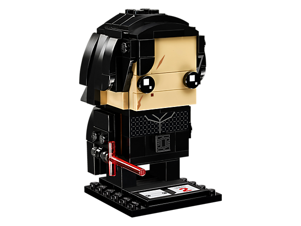 Build Kylo Ren™, as seen in the blockbuster Star Wars: The Last Jedi movie, with this fun LEGO® BrickHeadz construction character with iconic robe and Lightsaber, plus a display baseplate.