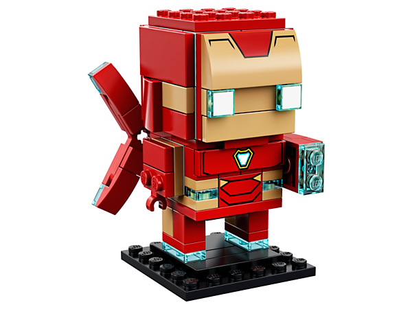 Build Iron Man MK50, from the blockbuster Avengers: Infinity War movie, with this fun LEGO® BrickHeadz construction character with iconic armor, thrusters and display baseplate.