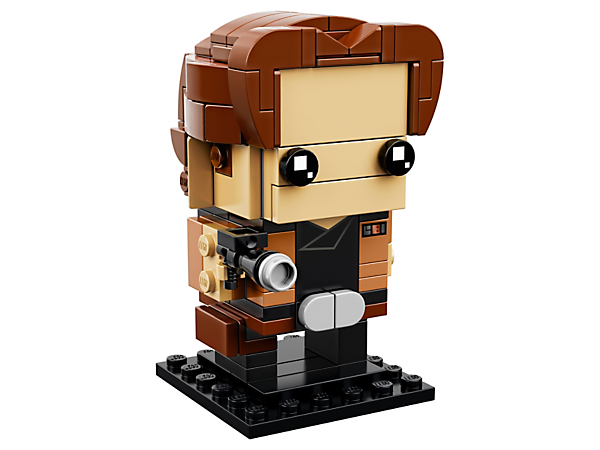 Build Han Solo from the Star Wars saga, with this fun LEGO® BrickHeadz™ construction character with iconic brown jacket and blaster, plus a baseplate.