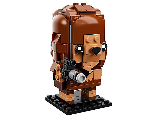Build Chewbacca, as seen in the Star Wars saga, with this fun LEGO® BrickHeadz™ construction character with iconic matted fur, ammunition belt and blaster, plus a baseplate.