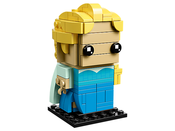 Build Elsa, as seen in the Disney blockbuster Frozen movie, with this fun LEGO® BrickHeadz™ construction character featuring an iconic blue dress and a baseplate.