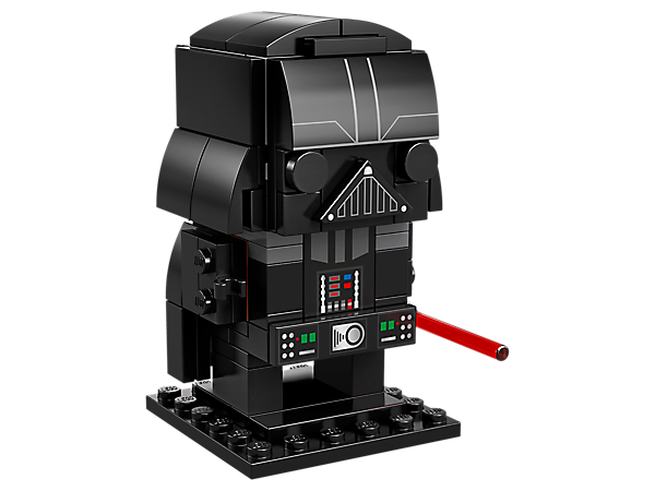 Build Darth Vader, as seen in the original blockbuster Star Wars: Episode V The Empire Strikes Back. movie, with this fun LEGO® BrickHeadz™ construction character with iconic black helmet and cape, plus a baseplate.