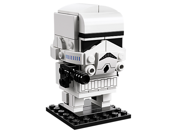 Build a Stormtrooper, as seen in the original Star Wars: Episode V The Empire Strikes Back movie, with this fun LEGO BrickHeadz™ construction character with iconic white armor and a blaster, plus a baseplate.