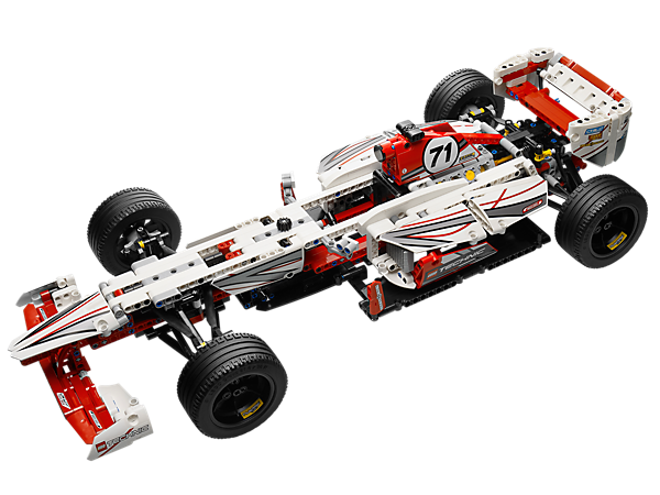 Construis cette voiture de 61 cm avec des détails authentiques tels qu'un capot de moteur qui s'ouvre, une suspension indépendante et des pistons mobiles !