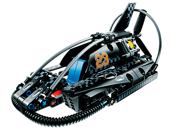 Race the all-new LEGO® Technic Hovercraft across any surface, with cool racing design, spinning rotor blades and moving engine pistons!