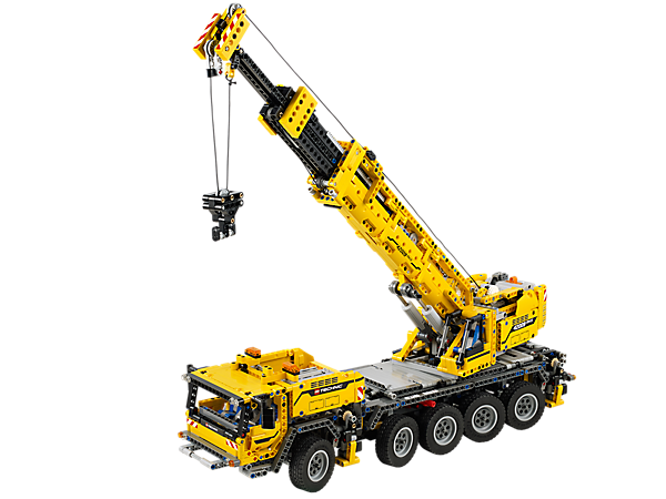 Build the Mobile Crane MK II with over 2,600 pieces, 8-wheel steering, rotating superstructure and LEGO® Power Functions!