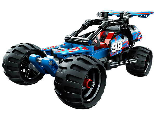 Race this realistic, super-cool LEGO® Technic Off-Road Racer with easy-to-follow instructions and a pull-back motor!
