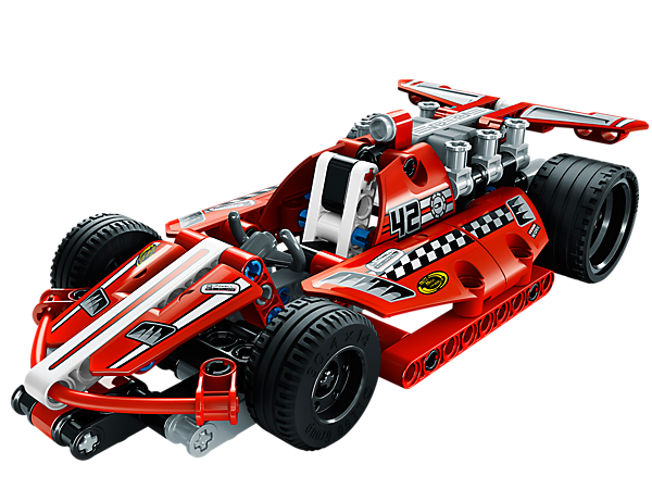 Take the realistic and super-cool LEGO® Technic Race Car onto the track with easy-to-follow instructions and a pull-back motor!