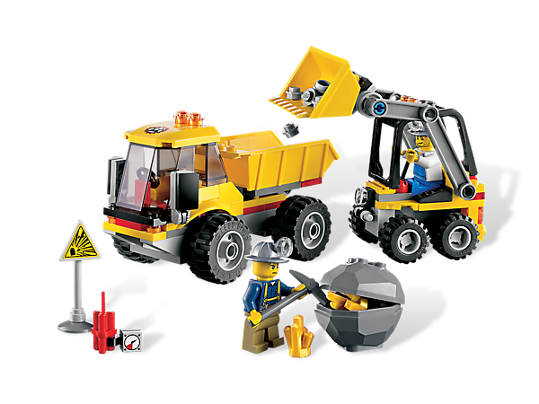 Scoop up the rocks with the Bucket Loader, load the Dump Truck and haul away the rock with gold nuggets inside in this mining adventure!
