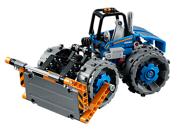 Discover the power of the dozer compactor with this awesome 2-in-1 LEGO® Technic replica, featuring a driver's cab, working blade and steering, and hard compactor wheels.
