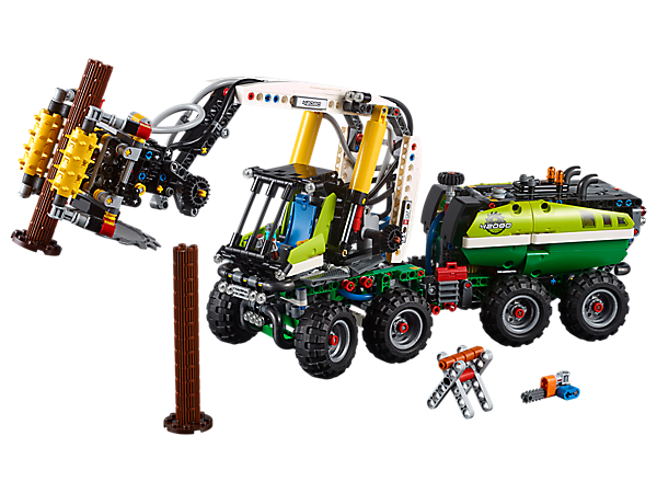 Explore innovative engineering with the LEGO® Technic™ Forest Machine, complete with advanced pneumatic motorization and a host of authentic features and functions.