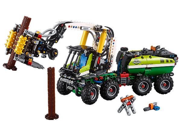 Entdecke innovative Technik mit der LEGO® Technic Harvester-Forstmaschine. Es gibt eine Fülle an authentischen Funktionen, die zum Teil druckluftbetätigt sind.