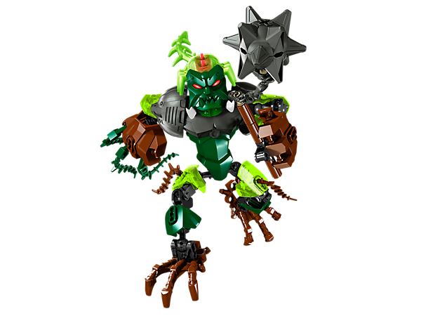 Transform OGRUM with the green evil brain to battle the LEGO® Hero Factory heroes with vine hands, root claw feet and wrecking mace!