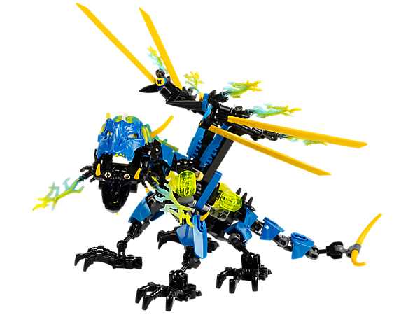 Attach the multicolored evil brain to transform into LEGO® Hero Factory DRAGON BOLT with powerful biting jaw, flapping storm wings and more!