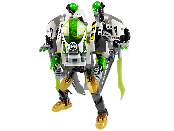 Defeat the aliens with LEGO® Hero Factory JET ROCKA's detachable jetpack with plasma shooters, plasma wingblades, ion engines and more!