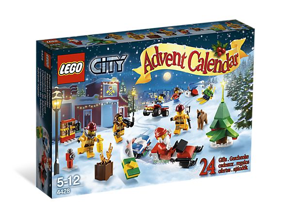 Countdown to Christmas the LEGO® way with 24 gifts behind doors to build and create a holiday story with!