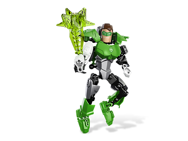 Build a customizable and fully poseable Green Lantern™ figure to protect the galaxy with his awesome power ring or create the morning star!