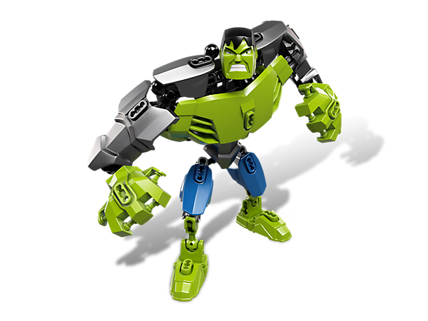 Create a mighty Avengers™ hero with Hulk™, the poseable muscle machine that's built for battle with powered-up armor and super strength!