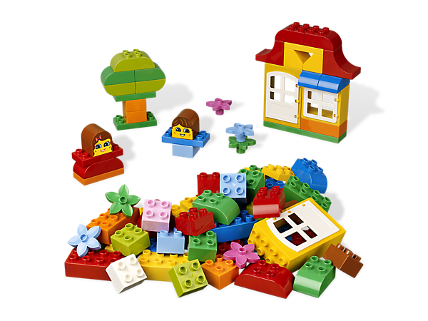 With decorated LEGO® DUPLO® bricks to begin a childhood full of creative building, Fun with Bricks is a colorful choice for play every day!