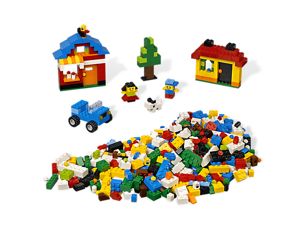 Start creating with a starter set packed with 600 colorful LEGO® elements, easy building instructions and inspiration!