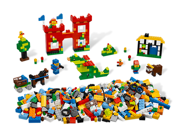 Start learning to build everything with the LEGO starter set that has 1000 colorful elements and tons of special features!