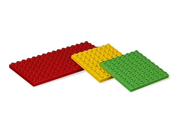 Start all of your LEGO® DUPLO® creations on the right foundation with 3 brightly colored Building Plates in different sizes!