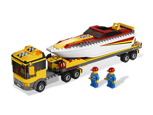 power boat transporter lego shop